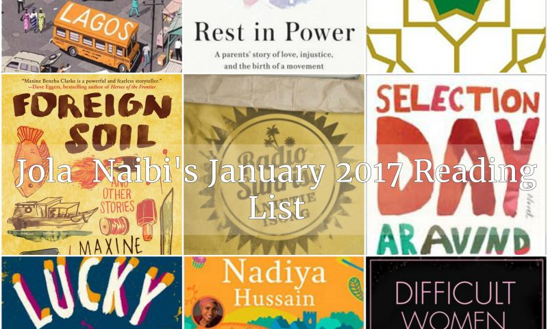 Reading List Collage with Text